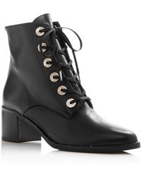 Frēda Salvador - Women's Ace Pointed Toe Leather Booties - Lyst