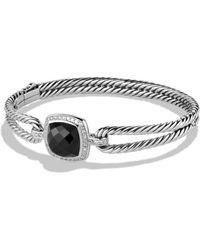 David Yurman - Albion Bracelet With Black Orchid And Diamonds - Lyst