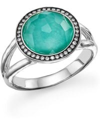Ippolita - Sterling Silver Stella Mini Lollipop Ring In Turquoise Doublet With Diamonds - Lyst