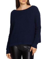 1.STATE - Waffle-knit Lace-up-back Jumper - Lyst