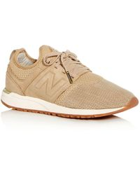 New Balance - Women's 247 Knit Lace Up Trainers - Lyst