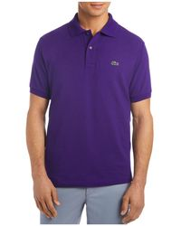 f38e030d6 Lyst - Lacoste Short Sleeve Piqué Polo Shirt - Classic Fit in Black ...