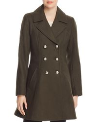Laundry by Shelli Segal - Double-breasted Button Front Military Coat - Lyst