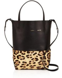 Alice.D - Husky Small Leather And Calf Hair Tote - Lyst