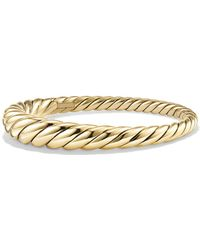 David Yurman - Pure Form Cable Bracelet In 18k Gold - Lyst