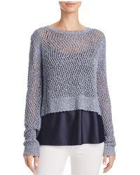 T Tahari - Halsey Layered Combo Sweater - Lyst