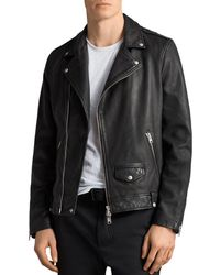 AllSaints - Milo Biker Jacket - Lyst
