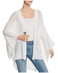 XCVI - Gauze Crochet Kimono - Lyst