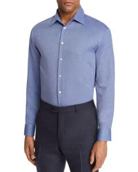 Emporio Armani - Tonal Cross Stitch Regular Fit Button-down Shirt - Lyst