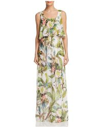 Adrianna Papell - Tropical Maxi Dress - Lyst