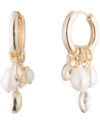 Carolee - Hoop & Cultured Freshwater Pearl Cluster Drop Earrings - Lyst