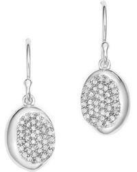 Ippolita - Sterling Silver Onda Diamond Drop Earrings - Lyst