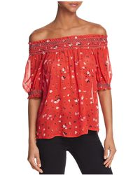 Joie - Gualberta Off-the-shoulder Silk Top - Lyst