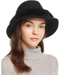 9d1c74ea573bd Eric Javits Go Go Rain Bucket Hat - in Black - Lyst