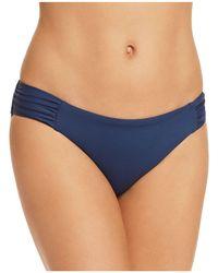 Becca - Colour Code Shirred Tab Bikini Bottom - Lyst