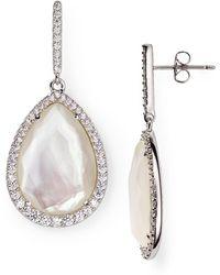 Nadri - Sterling Mother-of-pearl Teardrop Earrings - Lyst