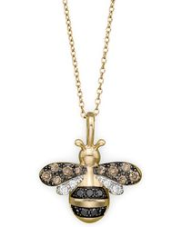 Bloomingdale's - Diamond Bumble Bee Pendant Set In 14k Yellow Gold, 0.20 Ct. T.w. - Lyst