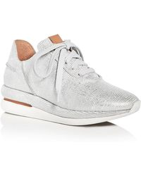 Gentle Souls - Women's Raina Snake Embossed Leather Lace Up Wedge Trainers - Lyst