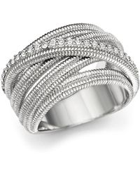 Judith Ripka - Multi Band Mercer Wrap Ring With White Sapphire - Lyst