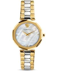 Versace - Versace Idyia Two Tone Watch, 36mm - Lyst
