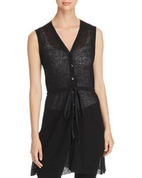 Eileen Fisher - Sheer Ribbed Vest - Lyst