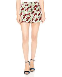 Sandro - Luciano Floral-print Mini Shorts - Lyst