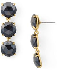 Kate Spade - Triple Stone Drop Earrings - Lyst