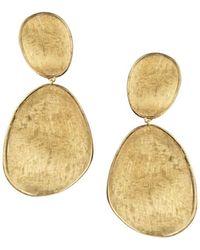 Marco Bicego - 18k Yellow Gold Lunaria Two Drop Earrings - Lyst