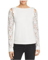 Bailey 44 - Sentimental Lace-sleeve Jumper - Lyst