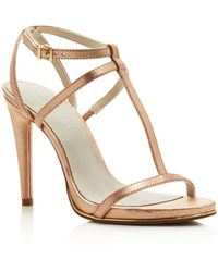 Kenneth Cole - Women's Bellamy Leather High Heel T-strap Sandals - Lyst