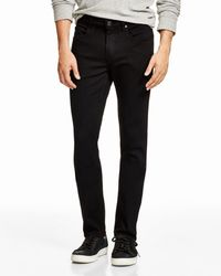 PAIGE - Lennox Super Slim Fit Jeans In Black - Lyst