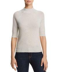 Aqua - Cashmere Mock-neck Cashmere Sweater - Lyst