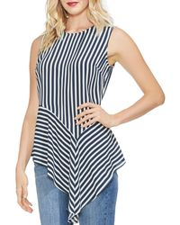 Vince Camuto - Striped Asymmetric - Hem Top - Lyst