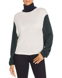 Burberry - Mazon Color Block Turtleneck Sweater - Lyst