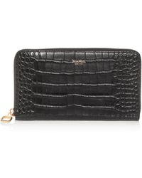 Max Mara - Croc-embossed Leather Continental Wallet - Lyst