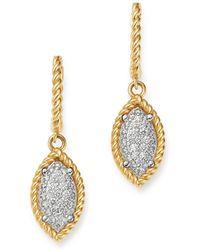 Roberto Coin - 18k Yellow & White Gold New Barocco Diamond Drop Earrings - Lyst