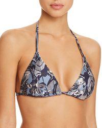 Sam Edelman - Metallic Floral Triangle Bikini Top - Lyst