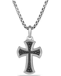 David Yurman - Petrvs Cross Pendant With Black Diamonds - Lyst
