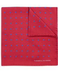 Turnbull & Asser - Basic Color Dots Pocket Square - Lyst