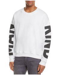 7 For All Mankind - Puff Print Logo Crewneck Sweatshirt - Lyst