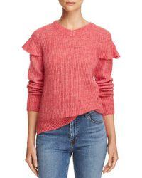 Rebecca Taylor - La Vie Ruffle-trim Sweater - Lyst