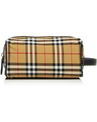77e868285d2e Lyst - Burberry Coalburn Classic Check Toiletry Bags in Natural for Men