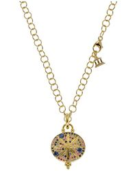 Temple St. Clair | 18k Yellow Gold Sorcerer Pendant With Mixed Sapphires | Lyst