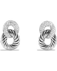 David Yurman - Belmont Drop Earrings With Diamonds - Lyst