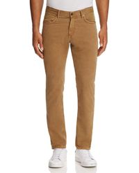 Billy Reid - Stretch-twill Slim Fit Trousers - Lyst