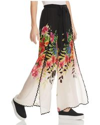 Johnny Was | Maya Printed Wide-leg Trousers | Lyst