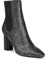 d1d40ff12e0 Donald J Pliner - Women s Laila Pointed Toe Glitter Suede Booties - Lyst