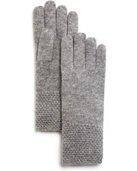 C By Bloomingdale's - Waffle Knit Cashmere Gloves - Lyst