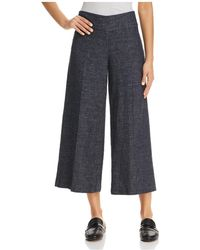 Eileen Fisher - Tweed Wide-leg Cropped Trousers - Lyst