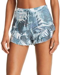 Surf Gypsy - Ruffled Shorts Swim Cover-up - Lyst